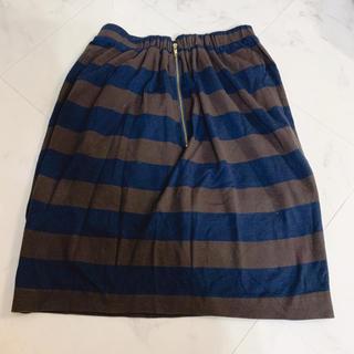 ドゥーズィエムクラス(DEUXIEME CLASSE)の【ドゥーズィエムクラス】フリーサイズ    ボーダースカート(ひざ丈スカート)