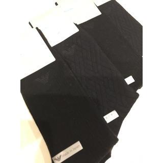 Emporio Armani - エンポリオ アルマーニ 靴下 メンズ 紳士 ビジネスソックス 黒 シンプル 高級