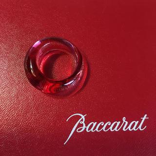 Baccarat - バカラ  クリスタル リング   ピンク