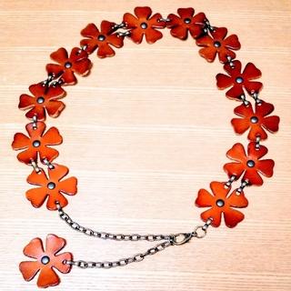 リズリサ(LIZ LISA)の美品 花型の秋色ベルト(ベルト)