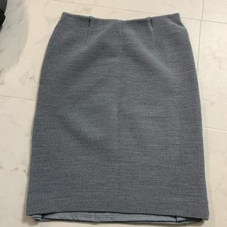 ドゥーズィエムクラス(DEUXIEME CLASSE)の【ドゥーズィエムクラス】L グレー タイトスカート  美品(ひざ丈スカート)
