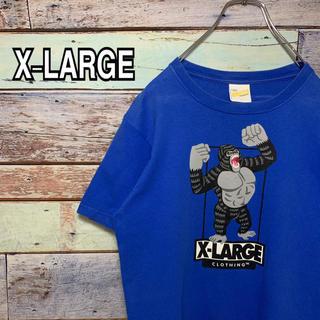 エクストララージ(XLARGE)のエクストララージ  Sサイズ Tシャツ ブルー(Tシャツ/カットソー(半袖/袖なし))