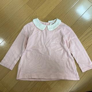 サマンサモスモス(SM2)のサマンサモスモス ラーゴム 襟付き ピンク トップス 長袖(Tシャツ/カットソー)