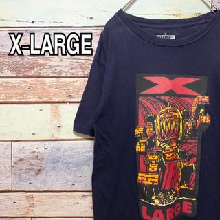 エクストララージ(XLARGE)のエクストララージ Sサイズ Tシャツ ネイビー 紺(Tシャツ/カットソー(半袖/袖なし))