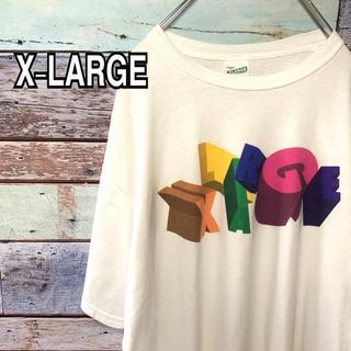 エクストララージ(XLARGE)のエクストララージ  XLサイズ ロゴ Tシャツ ホワイト 白(Tシャツ/カットソー(半袖/袖なし))