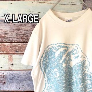 エクストララージ(XLARGE)のエクストララージ Mサイズ 超ビッグロゴ   Tシャツ ホワイト 白(Tシャツ/カットソー(半袖/袖なし))