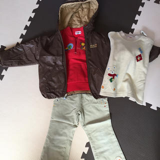 ミキハウス(mikihouse)のミキハウス 冬服セット  100センチ  コート 上着 ジャンパー(ジャケット/上着)