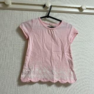サマンサモスモス(SM2)のサマンサモスモス ラーゴム トップス 花柄 ピンク スカラップ(Tシャツ/カットソー)
