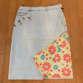 フェンディ(FENDI)のFENDI デニムスカート(ひざ丈スカート)