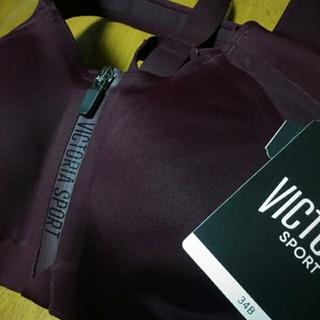 ヴィクトリアズシークレット(Victoria's Secret)のタグ付き保管 VICTORIA'S SECRET スポーツブラ ボルドー 34B(ブラ)