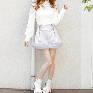 LIZ LISA - LIZLISA 裾ファーショートパンツ