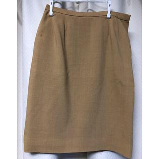 サンローラン(Saint Laurent)のイヴ サンローラン 膝丈スカート 36 ベージュ(ひざ丈スカート)