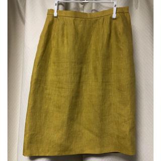 サンローラン(Saint Laurent)のイヴ サンローラン 膝丈スカート 36 山吹色(ひざ丈スカート)