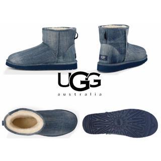 UGG - 希少 UGG ムートン ブーツ メンズ クラシックミニ ウォッシュ デニム