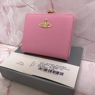 ヴィヴィアンウエストウッド(Vivienne Westwood)のベイビーピンク二つ折りがま口❤️ヴィヴィアンウエストウッド(財布)