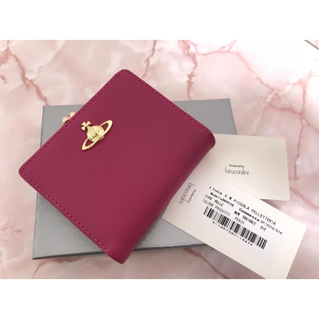 Vivienne Westwood(ヴィヴィアンウエストウッド)のピンク二つ折りがま口❤️ヴィヴィアンウエストウッド❤️新品・未使用 レディースのファッション小物(財布)の商品写真