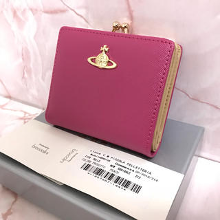 ヴィヴィアンウエストウッド(Vivienne Westwood)のピンク二つ折りがま口❤️ヴィヴィアンウエストウッド❤️新品・未使用(財布)