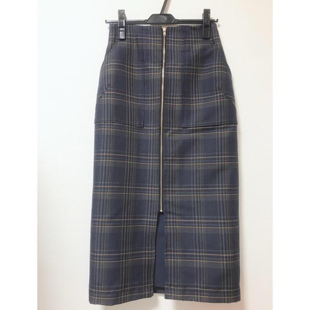 BABYLONE(バビロン)のBABYLONE センタージップチェックスカート レディースのスカート(ひざ丈スカート)の商品写真