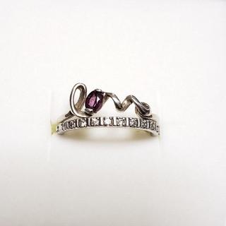 ラブリング ハーフエタニティーリング シルバーリング 指輪 silver925(リング(指輪))