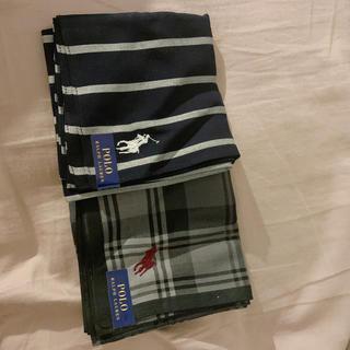 ポロラルフローレン(POLO RALPH LAUREN)のPOLO RALPH LAUREN ハンカチ 2枚セット新品(ハンカチ/ポケットチーフ)