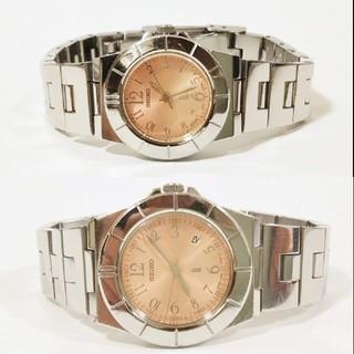 セイコー(SEIKO)の2本まとめて セイコー ルキア ピンクベージュ 電池新品 ベルト洗浄済 完動品(腕時計)