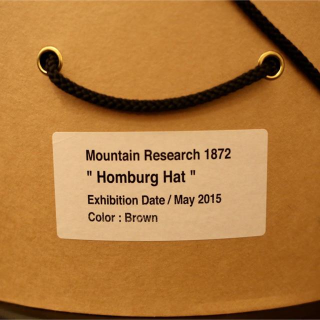 MOUNTAIN RESEARCH(マウンテンリサーチ)の未使用 マウンテンリサーチ Homburg Hat ホンブルグハット メンズの帽子(ハット)の商品写真