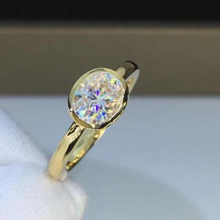 【newデザイン】輝く オーバル モアサナイト  ダイヤモンド リング(リング(指輪))