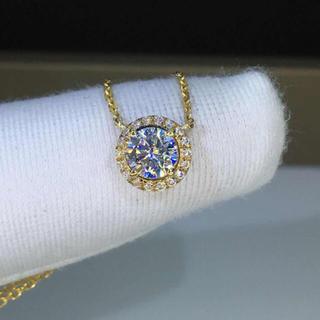 【newデザイン】輝く モアサナイト  ダイヤモンド ネックレス(リング(指輪))