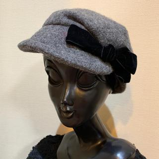 CA4LA - 【美品】CA4LA カシラ レディース ウールキャスケット 帽子ハット グレー