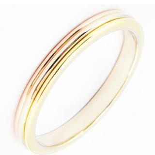 カルティエ(Cartier)のカルティエ リングCartierスリーカラーK18#60約19.5号新品仕上中古(リング(指輪))