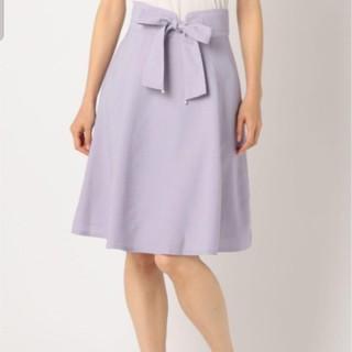 ミッシュマッシュ(MISCH MASCH)のパールベルトハギフレアースカート(ひざ丈スカート)