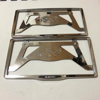 スバル - SUBARU スバル ナンバーフレーム セット 純正