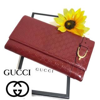 Gucci - 【⭐️コスパ⭐️】 グッチ マイクロシマライン コンチネンタルウォレット