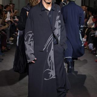 Yohji Yamamoto - 新品同様 17ss ヨウジヤマモト ギャバジン 抜染 シルクコート リバーシブル