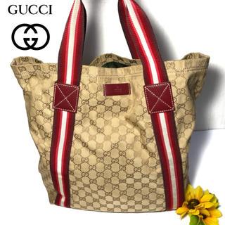グッチ(Gucci)の【レアカラー⭐️コスパ】 グッチ シェリーライン トートバッグ ハンドバッグ(トートバッグ)