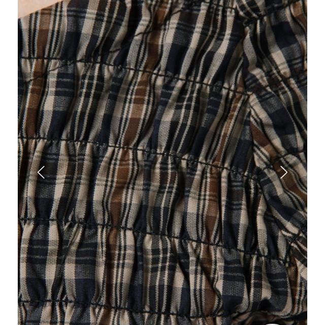 Kastane(カスタネ)のKastane チェックシャーリングブラウス ブラウン レディースのトップス(シャツ/ブラウス(半袖/袖なし))の商品写真