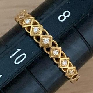アガット(agete)のK18 ダイヤモンド リング  ベルシオラ   アガット(リング(指輪))