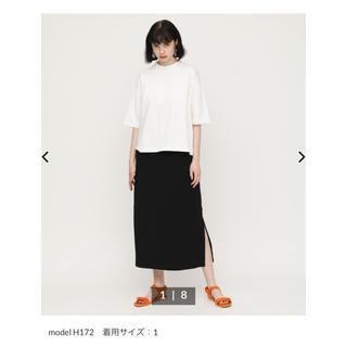 スライ(SLY)のSLY HW I LINE SK 新品未使用 ブラック 完売品(ロングスカート)