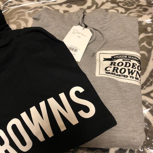 RODEO CROWNS WIDE BOWL(ロデオクラウンズワイドボウル)のロデオ★沼津限定!ジップパーカー&ロンTセット/グレー レディースのトップス(パーカー)の商品写真