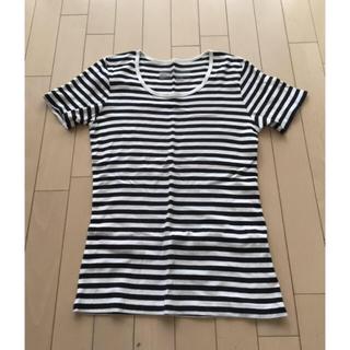 ムジルシリョウヒン(MUJI (無印良品))の専用です。無印良品 ボーダーTシャツ 黒ボーダー(Tシャツ(半袖/袖なし))