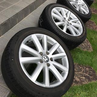 フォルクスワーゲン(Volkswagen)のアルミホイール 17インチ VW純正 タイヤおまけ(ホイール)