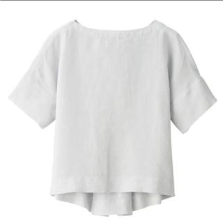 ムジルシリョウヒン(MUJI (無印良品))のオーガニックリネン洗いざらし半袖ブラウス  (シャツ/ブラウス(半袖/袖なし))