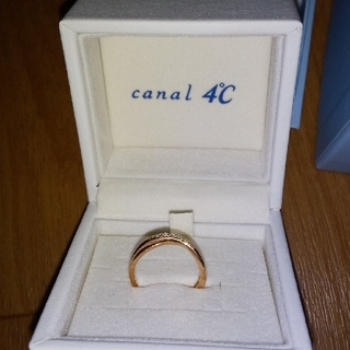 カナルヨンドシー(canal4℃)のK10ピンクゴールドリング カナル4°C                    (リング(指輪))