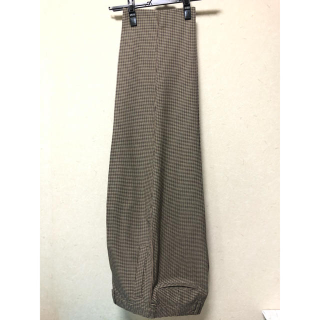 yoke 19aw wide trousers beige xs メンズのパンツ(スラックス)の商品写真