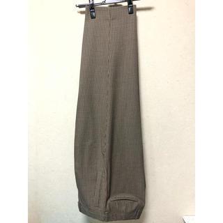 yoke 19aw wide trousers beige xs