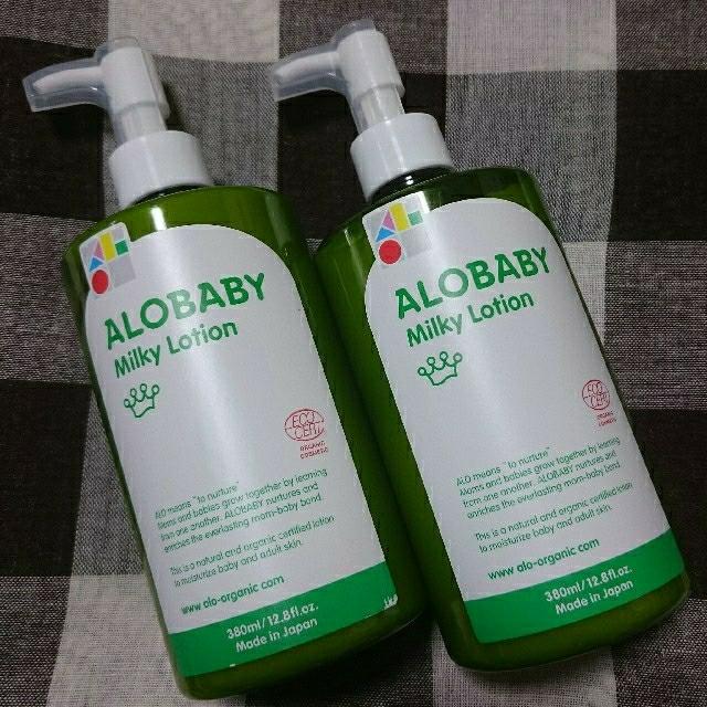 アロベビーミルクローション ビックボトル 2個セット キッズ/ベビー/マタニティの洗浄/衛生用品(ベビーローション)の商品写真