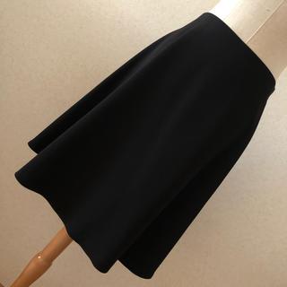 デプレ(DES PRES)のフレアスカート 黒(ひざ丈スカート)