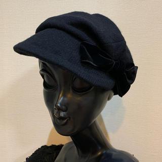 CA4LA - 【新品】CA4LA カシラ レディース ウールキャスケット 帽子 黒 リボン