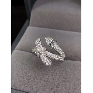 GIA♡リボンスネークデザインダイヤモンドリング(リング(指輪))