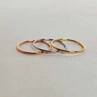 ステンレスリング シンプルリング 3本セット(リング(指輪))